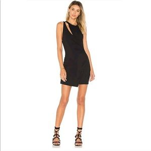 Free People Toast to That black cutout mini dress